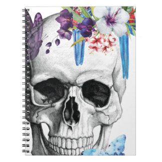 Wellcoda Skull Death Paradise Bad Tropical Spiral Notebooks