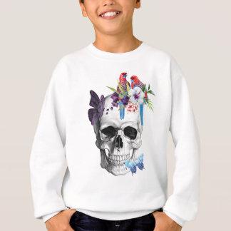 Wellcoda Skull Death Paradise Bad Tropical Sweatshirt