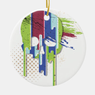 Wellcoda Skull Face Color Dye Fantasy Art Christmas Ornament