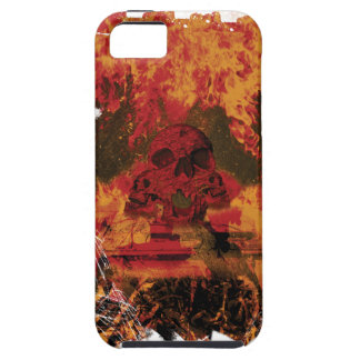 Wellcoda Skull Fire Death Tank Burning Case For The iPhone 5