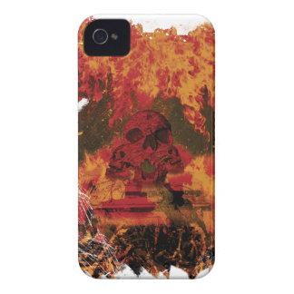 Wellcoda Skull Fire Death Tank Burning iPhone 4 Cases