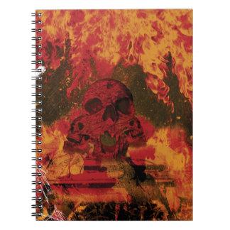 Wellcoda Skull Fire Death Tank Burning Notebook