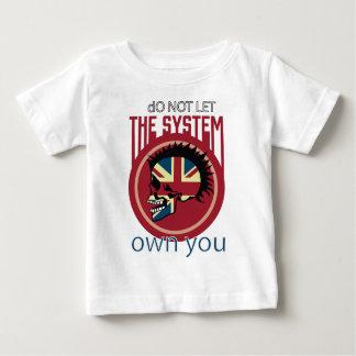 Wellcoda Skull Head Anarchy System Punk Baby T-Shirt