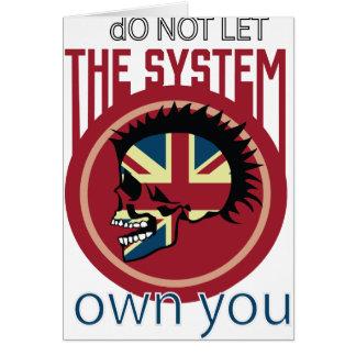 Wellcoda Skull Head Anarchy System Punk Card