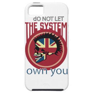 Wellcoda Skull Head Anarchy System Punk iPhone 5 Case