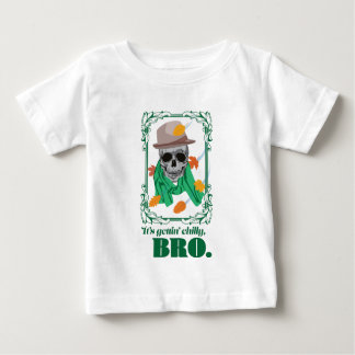 Wellcoda Skull Head Autumn Rainy Season Baby T-Shirt