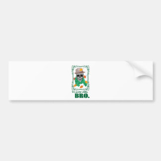 Wellcoda Skull Head Autumn Rainy Season Bumper Sticker