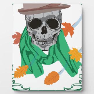 Wellcoda Skull Head Autumn Rainy Season Plaque