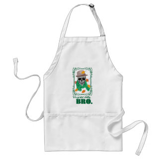 Wellcoda Skull Head Autumn Rainy Season Standard Apron