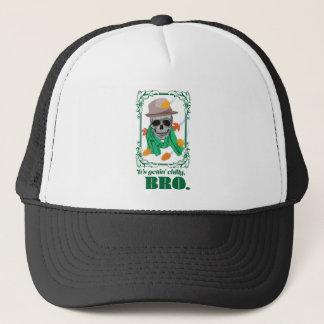 Wellcoda Skull Head Autumn Rainy Season Trucker Hat