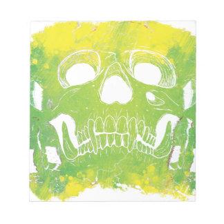 Wellcoda Skull Head Dispersion Skeleton Notepad