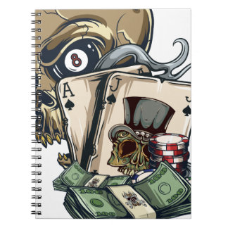 Wellcoda Skull Head Gambling Play Death Note Books