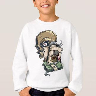 Wellcoda Skull Head Gambling Play Death Sweatshirt