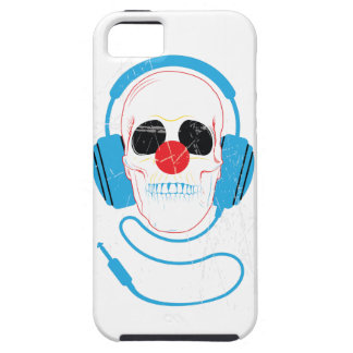 Wellcoda Skull Head Love Music Headphones iPhone 5 Cover