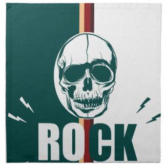 Wellcoda Skull Head Rock Grim Heavy Music Napkin