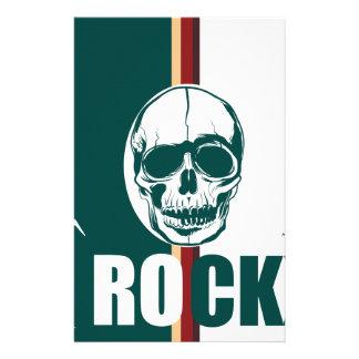 Wellcoda Skull Head Rock Grim Heavy Music Stationery