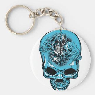 Wellcoda Skull Head Scalp Horror Face Key Ring