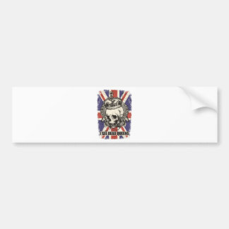 Wellcoda Skull Queen England Skeleton UK Bumper Sticker