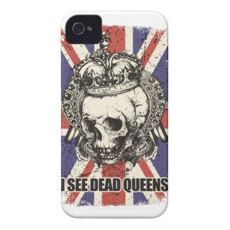 Wellcoda Skull Queen England Skeleton UK iPhone 4 Cases