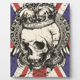 Wellcoda Skull Queen England Skeleton UK Plaque