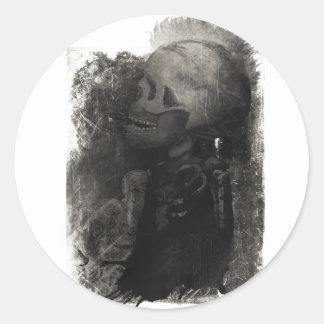 Wellcoda Skull Scary Macabre Power Death Classic Round Sticker