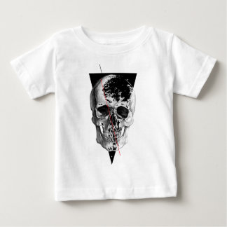 Wellcoda Skull Triangle Death Horror Face Baby T-Shirt