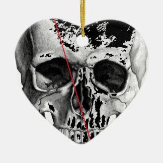 Wellcoda Skull Triangle Death Horror Face Ceramic Heart Decoration