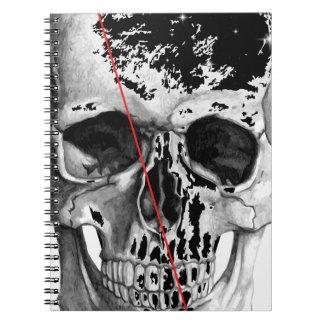 Wellcoda Skull Triangle Death Horror Face Notebooks