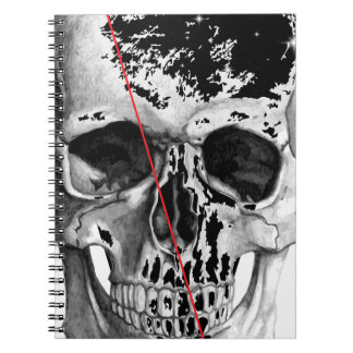 Wellcoda Skull Triangle Death Horror Face Spiral Note Books