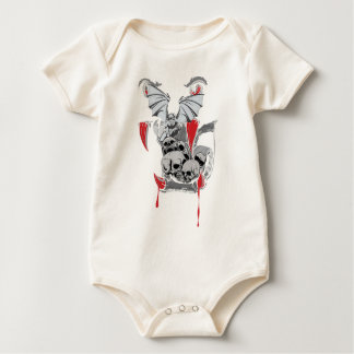 Wellcoda Skull Vampire Scary Evil Monster Baby Bodysuit