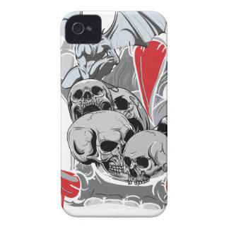 Wellcoda Skull Vampire Scary Evil Monster Case-Mate iPhone 4 Cases
