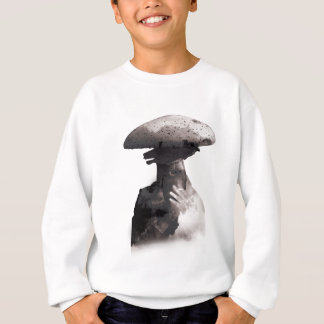 Wellcoda Smoking Human Head Mushroom Face Sweatshirt