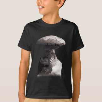 Wellcoda Smoking Human Head Mushroom Face T-Shirt