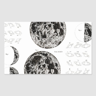 Wellcoda Solar System Planet Astro Physics Rectangular Sticker