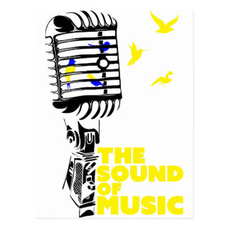 Wellcoda Sound Of Music Sing Microphone Postcard