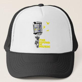 Wellcoda Sound Of Music Sing Microphone Trucker Hat