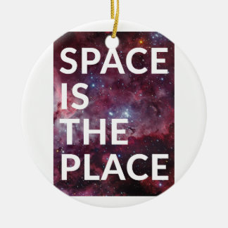 Wellcoda Space Is The Place Fun Big Planet Christmas Ornament