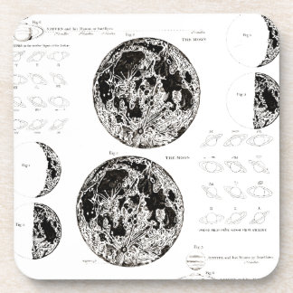 Wellcoda Stages of The Moon Space Life Drink Coasters