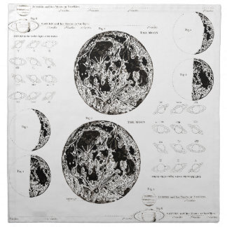 Wellcoda Stages of The Moon Space Life Napkin