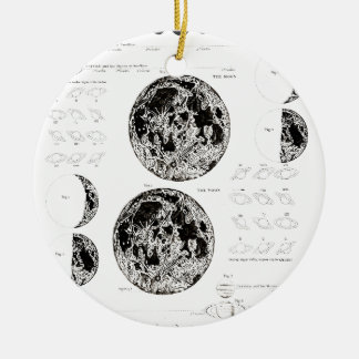 Wellcoda Stages of The Moon Space Life Round Ceramic Decoration