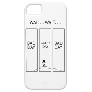 Wellcoda Stairway Stick Man Good Bad Day iPhone 5 Cases