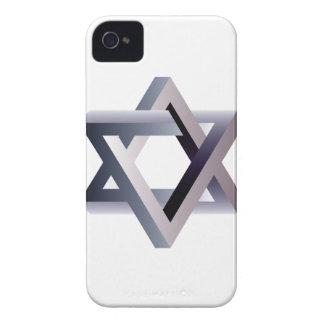 Wellcoda Star Of David Symbol Judaism Sign iPhone 4 Case-Mate Case