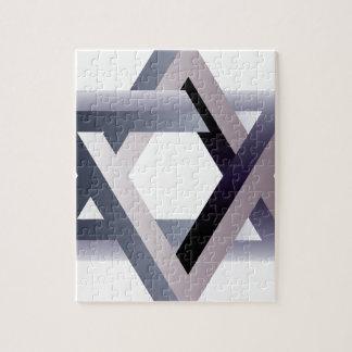 Wellcoda Star Of David Symbol Judaism Sign Jigsaw Puzzle
