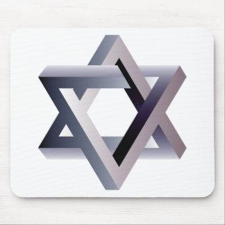 Wellcoda Star Of David Symbol Judaism Sign Mouse Mat