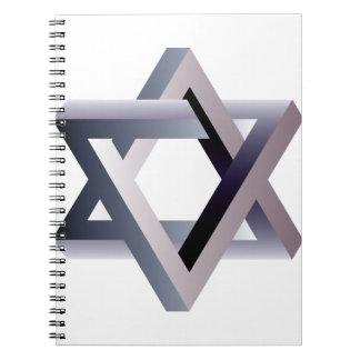 Wellcoda Star Of David Symbol Judaism Sign Notebooks