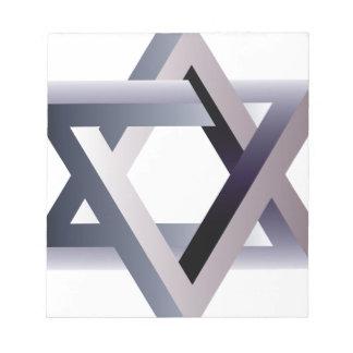 Wellcoda Star Of David Symbol Judaism Sign Notepad