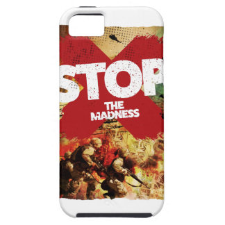 Wellcoda Stop the Madness War Troops Life iPhone 5 Cases