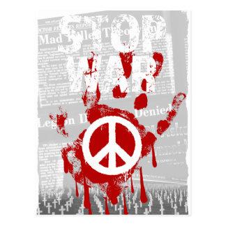 Wellcoda Stop War World Peace Soldier RAF Postcard