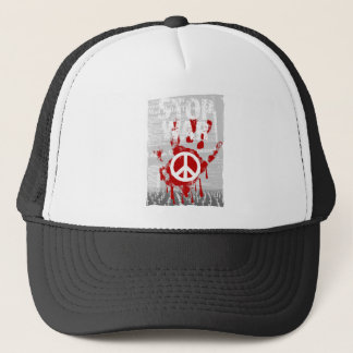 Wellcoda Stop War World Peace Soldier RAF Trucker Hat