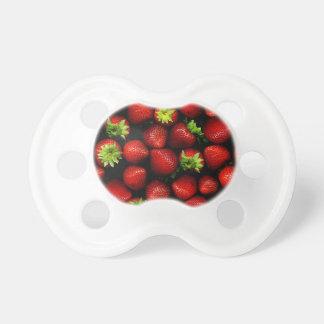 Wellcoda Strawberry Field Fruit Summer Fun Baby Pacifiers